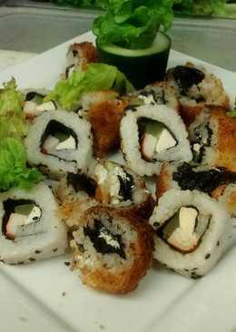 rollos sushi de camarones