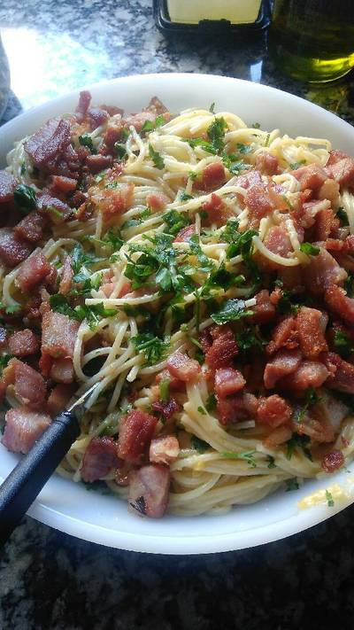 Spaghetti a la Carabonara