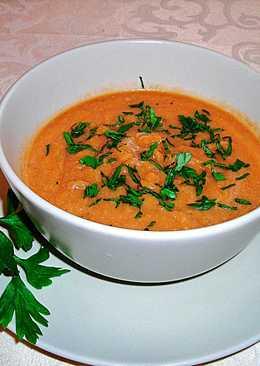 Crema de berenjenas asadas con tomates - vegetariana