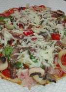 Pizza con clara de huevos