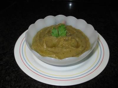 Crema de berenjenas y pimientos asados fácil