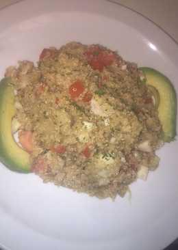 Quinoa con berenjena, atún & vegetales!!!