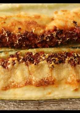 Zucchini Rellenos con Carne y Puré