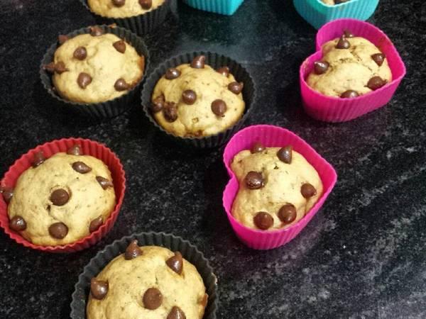 Cupcakes de cambur con chispas de choco