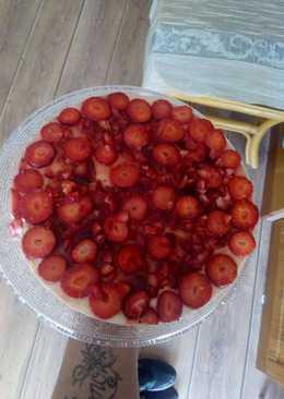 Tarta de Gelatina con fresas