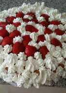 Bizcocho de nata y fresas