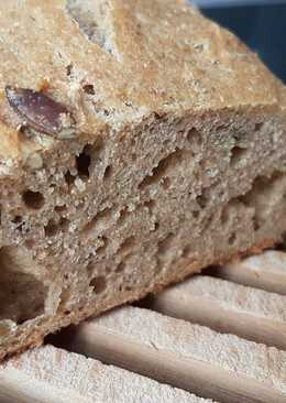 Pan sin amasado con semillas