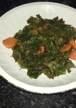 Col kale con zanahorias al vapor