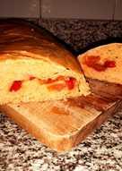Pan casero de tomate y pimientos. Rápido y fácil