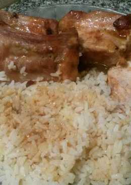 Carre de cerdo en salsa barbacoa