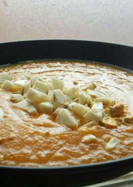 Crema de zanahoria y puerro sin papa