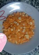 Arroz de queso-huevo