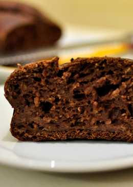 Bizcocho de plátano y chocolate. Bajo en grasa y sin azúcares añadidos