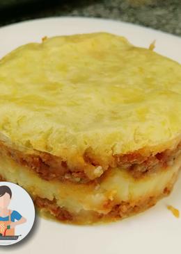 Falsa lasaña de patata y carne