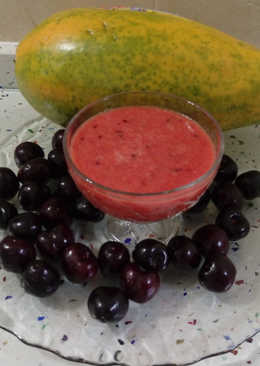 Smoothie de papaya y cerezas