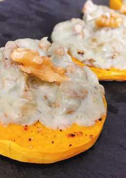 Calabaza asada con roquefort y nueces