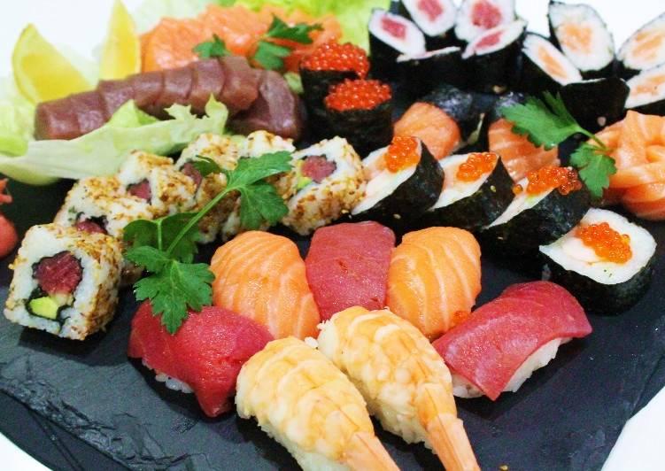 Como preparar sushi en casa paso a paso receta de for Como hacer arroz para sushi
