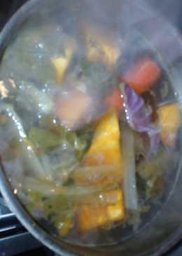 Sopa de verduras, bien rica y fácil