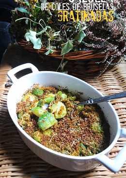 Cazuela de coles de Bruselas gratinadas