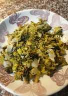Brócoli y puerro rehogados al limón