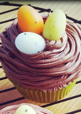 Cupcakes con motivos de Pascua (canela y chocolate)