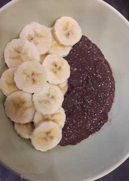 Chía pudding cacao-plátano