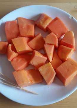 Papaya con jengibre