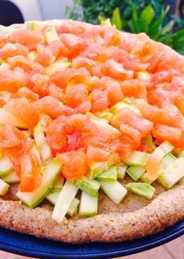 Pizza de calabacín y tomate