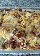 Nachos con chili con carne y queso!!