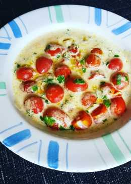 Tomatitos cherry en salsa de nata al tomillo fresco