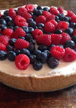 Cheesecake con chocolate blanco