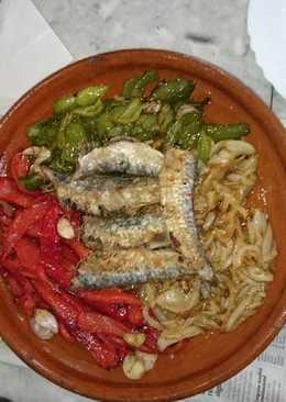 Sardinas con verduras al horno