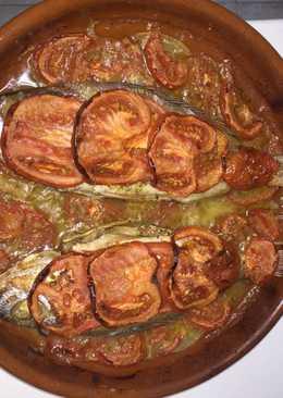 Besugos con mantita de tomates