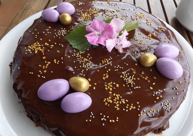 Pastel De Chocolate Todo Chocolate Para El Día De La Madre Receta