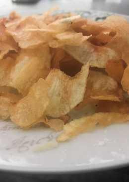 Patatas chip caseras