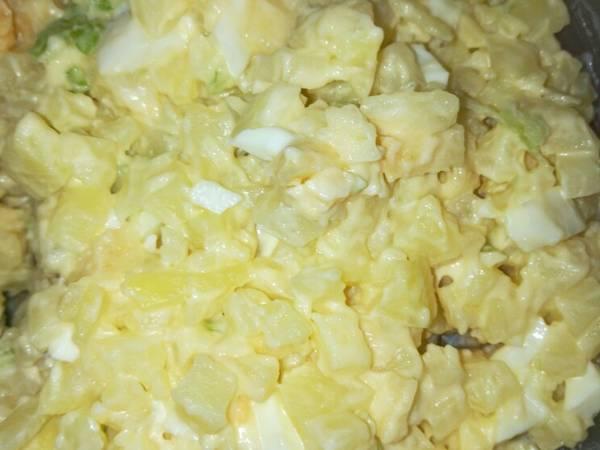 Ensalada de papa y manzanas