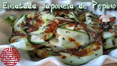 Ensalada japonesa de pepino