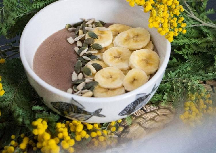 Porridge de avena, plátano, maca y cacao en Thermomix