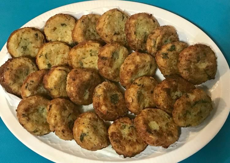 Tortitas de calabacín. (κολοκυθοκεφτέδες) (vegetariano)