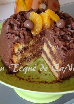 Tarta con harina de maíz, naranja y Nutella (sin gluten)