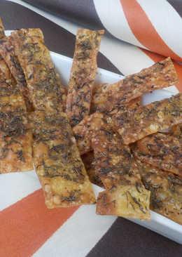 Chips de jengibre y tomillo