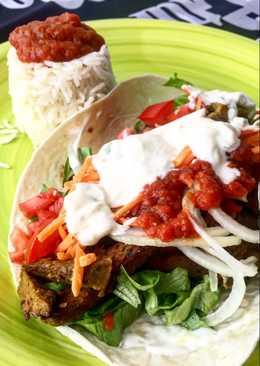 Kebab vegano de seitán 🥙🥙🥙