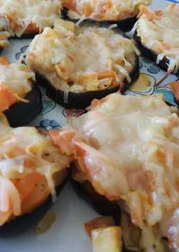 Mini pizzas de berenjena