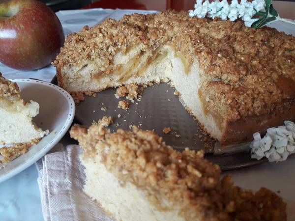 Apfel Streuselkuchen (pastel de manzana alemán)