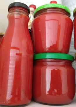 Salsa de tomate (para conserva) en olla lenta