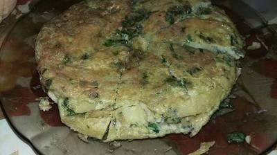 Tortilla de papa y espinaca