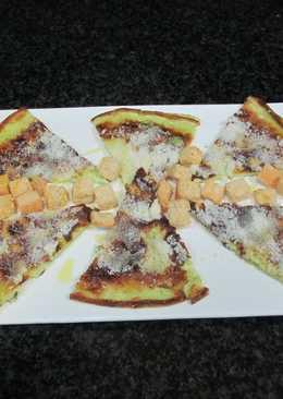 Tortilla francesa verdosa con parmesano