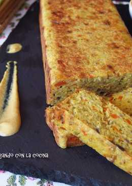Pastel de quinoa y lentejas coral
