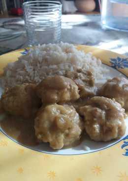 Albóndigas de dieta al curry