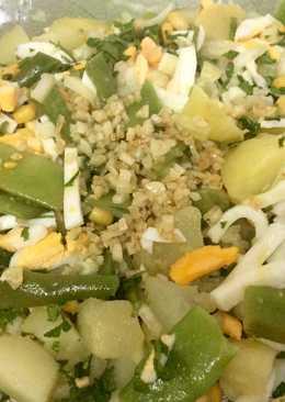 Aliño de judías verdes y patatas 🥔 🌱